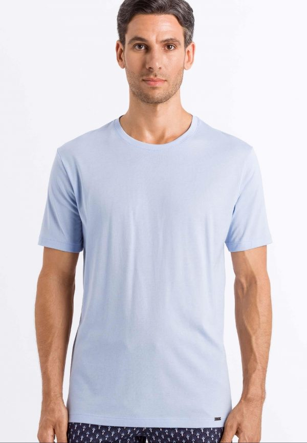 Camiseta manga corta hombre 100% algodón Hanro Night & Day