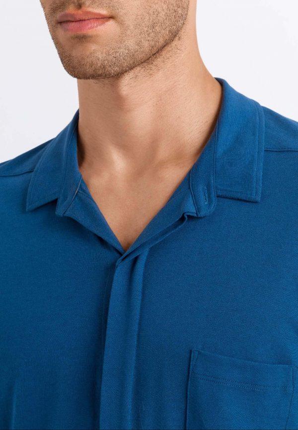 Camisa pijama hombre 100% algodón Hanro Luca